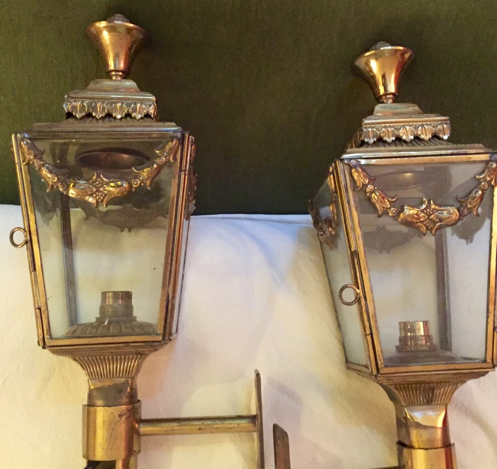 spectacular 1800 coach lanterns bronze